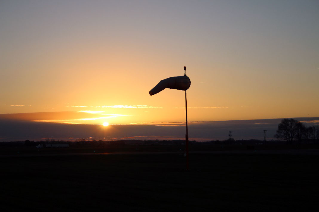 inflated windsock